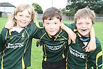 Karl Meegan, Luke Mac Quillan and Alan Mullen at the Summer Camp in Boyne Rugby Football Club...Picture Jenny Matthews/Newsfile.ie