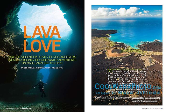 PADI Sport Diver Magazine, November/December 2010, Maui Feature - Assignment, USA