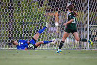 Baylor goalkeeper Michelle Kloss (8) makes a save during first half of NCAA soccer game, Friday, October 03, 2014 in Waco, Tex. TCU and Baylor are tied 1-1 at the halftime. (Mo Khursheed/TFV Media via AP Images)