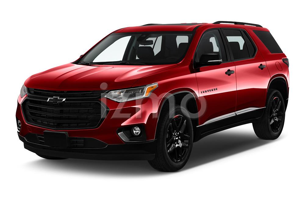 2020 Chevrolet Traverse Premier 5 Door SUV Angular Front automotive stock photos of front three quarter view