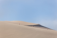 Climbing the Great Sand Dunes can be exhausting - the sand gives way under your feet, and the dunes seem to never end.