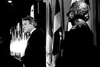 June 5, 1985 File Photo - Brian Mulroney, Prime-Minister of Canada speak at the Queen Elizabeth Hotel