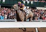 April 04, 2015:   Kobe's Back and jockey Gary Stevens win the 29th running of The Commonwealth Grade 3 $300,000 at Keeneland Racecourse for owner Tom Swearingen Racing Stable, Denk, Lo, Carlile, D. and Bockel and trainer Peter Eurton.  Candice Chavez/ESW/CSM