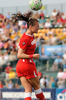 Brittany Bock (21) of the Western New York Flash. The Western New York Flash defeated the Philadelphia Independence 5-4 in a penalty kick shootout after playing to a 1-1 tie during the Women's Professional Soccer (WPS) Championship presented by Citi at Sahlen's Stadium in Rochester NY, on August 27, 2011.