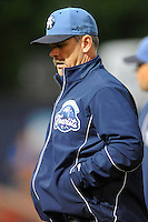 Asheville Tourists manager Joe Mikulik during game three of the South Atlantic League, Southern Division playoffs against the Rome Braves at McCormick Field on September 8, 2012 in Asheville, North Carolina . The Tourists defeated the Braves 4-3. (Tony Farlow/Four Seam Images).