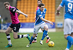 St Johnstone v Dundee…11.03.17     SPFL    McDiarmid Park<br />Blair Alston goes past Kevin Holt<br />Picture by Graeme Hart.<br />Copyright Perthshire Picture Agency<br />Tel: 01738 623350  Mobile: 07990 594431
