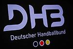Logo: DHB Deutscher Handballbund / EHF EURO-Qualifikation / EM-Qualifikation / Handball-Laenderspiel: Deutschland - Estland am 02.05.2021 in Stuttgart (PORSCHE Arena), Baden-Wuerttemberg, Deutschland.<br /> <br /> Foto © PIX-Sportfotos *** Foto ist honorarpflichtig! *** Auf Anfrage in hoeherer Qualitaet/Aufloesung. Belegexemplar erbeten. Veroeffentlichung ausschliesslich fuer journalistisch-publizistische Zwecke. For editorial use only.