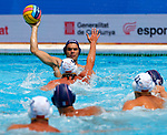 Pierre-Frederic Vanpeperstraete in action  during game between Montenegro against France LEN European Water Polo Championships, Barcelona 16.07.2018