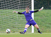 20150904 - TUBIZE , BELGIUM : Anderlecht's goalkeeper Diede Lemey pictured during warming up for a soccer match between the women teams of RSC Anderlecht and KRC Genk Ladies  , on the second matchday of the 2015-2016 SUPERLEAGUE season, Friday 4  September 2015 . PHOTO DAVID CATRY