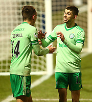 10th February 2021; St Mirren Park, Paisley, Renfrewshire, Scotland; Scottish Premiership Football, St Mirren versus Celtic; David Turnbull of Celtic celebrates with Ryan Christie of Celtic after he makes it 4-0 to Celtic in the 83rd minute