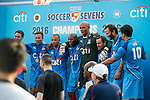 Citi All Stars are the Cup Final Winners of the Masters tournament of the HKFC Citi Soccer Sevens on 22 May 2016 in the Hong Kong Footbal Club, Hong Kong, China. Photo by Li Man Yuen / Power Sport Images