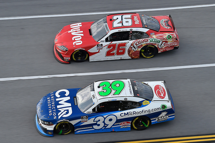 #39: Ryan Sieg, RSS Racing, Ford Mustang CMR Construction and Roofing / A-Game and #26: Santino Ferruci, Sam Hunt Racing, Toyota Supra HyVee