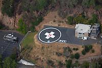 aerial photograph of the helipad at Adventist Heath, St. Helena, Napa County, California