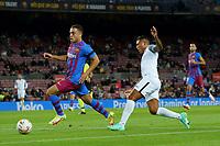 20th September 2021; Nou Camp, Barcelona, Spain; La Liga football league;  FC Barcelona versus Granada;   Machis shoots past the block from Dest