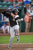 Colton Welker (12) of the Grand Junction Rockies at bat against the Ogden Raptors in Pioneer League action at Lindquist Field on August 25, 2016 in Ogden, Utah. The Rockies defeated the Raptors 12-3. (Stephen Smith/Four Seam Images)
