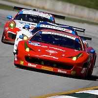#49 Ferrari, Pierguiseppe Perazzini, Marco Cioci, Eddie Cheever III, Petit Le Mans , Road Atlanta, Braselton, GA, October 2014.   (Photo by Brian Cleary/www.bcpix.com)