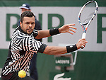 May 24, 2016:  Jo-Wilfried Tsonga (FRA) defeated Jan-Lennard StrufF (GER) 6-3 in the first set at Roland Garros being played at Stade Roland Garros in Paris, .  ©Leslie Billman/Tennisclix/CSM