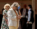 SARATOGA SPRINGS, NY - AUGUST 25: A man handicaps the races on Travers Stakes Day at Saratoga Race Course on August 25, 2018 in Saratoga Springs, New York. (Photo by Carson Dennis/Eclipse Sportswire/Getty Images)