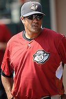 Altoona Curve coach Ryan Long (26) during game against the Trenton Thunder at Samuel L. Plumeri Sr. Field at Mercer County Waterfront Park on August 22, 2012 in Trenton, NJ.  Altoona defeated Trenton 14-2.  Tomasso DeRosa/Four Seam Images