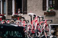 the bike circus arrives in town...<br /> <br /> Stage 7: Moûtiers > Saint-Gervais Mont Blanc (129km)<br /> 70th Critérium du Dauphiné 2018 (2.UWT)