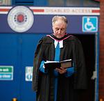 02.01.2020 Ibrox disaster memorial service: Rev Stuart MacQuarrie conducts the memorial service