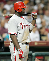 Philadelphia Phillies 1B Ryan Howard on Saturday May 24th at Minute Maid Park in Houston, Texas. Photo by Andrew Woolley / Four Seam Images..