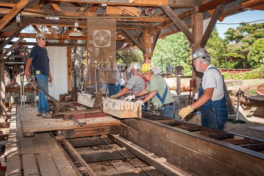 75th Amador County Fair, Plymouth, Calif.<br /> <br /> Historic steam-powered sawmill<br /> <br /> Day 4