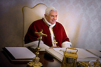 Pope Benedict XVI private library at the Vatican, 23 January 2009
