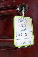 tank door sign on tank chateau reysson haut medoc bordeaux france