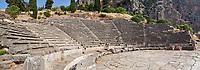 Ancient Greek Theatre of Delphi, Delphi Archaeological site, Delphi, Greece