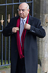 © Joel Goodman - 07973 332324 . 16/01/2014 . Salford , UK . KEITH VAZ , MP for Leicester East , arrives at the funeral . The funeral of Labour MP Paul Goggins at Salford Cathedral today (Thursday 16th January 2014) . The MP for Wythenshawe and Sale East died aged 60 on 7th January 2014 after collapsing whilst out running on 30th December 2013 . Photo credit : Joel Goodman