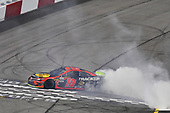 #19: Martin Truex Jr., Joe Gibbs Racing, Toyota Camry Bass Pro Shops celebrates his win