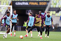 25th May 2021; Gdansk, Poland; Manchester United training at the Stadion Energa Gdańsk prior to their Europa League final versus Villarreal on May 26th;  ANTHONY ELANGA and FRED