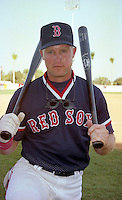 Boston Red Sox Greg Blosser during Spring Training 1993 at City of Palms Park in Fort Myers, Florida.  (MJA/Four Seam Images)