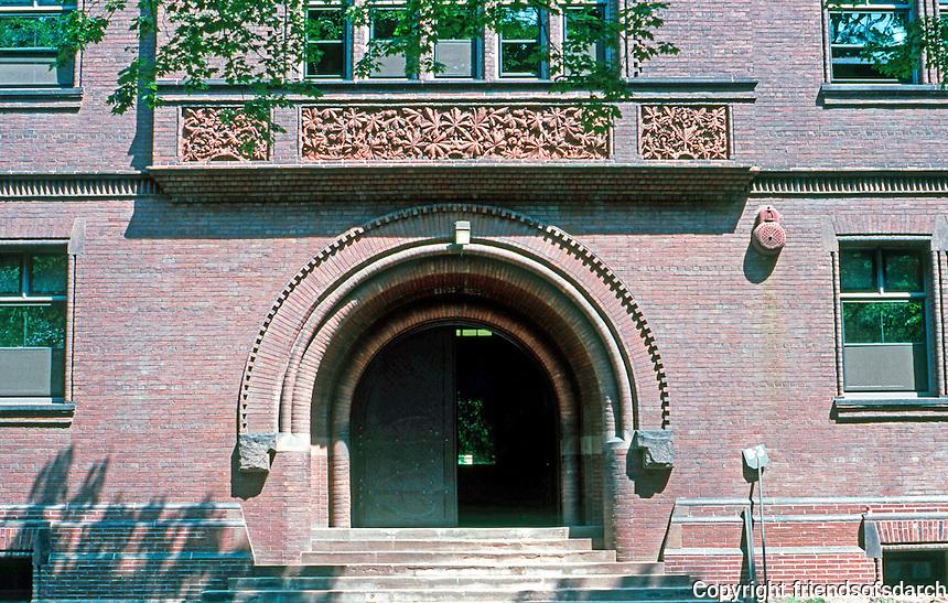 H. H. Richardson: Sever Hall--entrance. 1878.