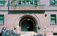 H. H. Richardson: Sever Hall--entrance. 1878.