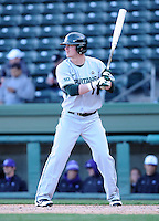 Outfielder Torsten Boss (7) of the Michigan State Spartans in a game against the Furman Paladins on February 25, 2012, at Fluor Field in Greenville, South Carolina. (Tom Priddy/Four Seam Images)