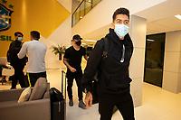 10th November 2020; Granja Comary, Teresopolis, Rio de Janeiro, Brazil; Qatar 2022 qualifiers; Roberto Fimino of Brazil and Liverpool arrives at Granja Comary