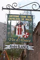 wrought iron sign andre blanck kientzheim alsace france