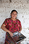 For GLOBAL FUND FOR WOMEN<br /> <br /> Gloria Marina Icu Puluc from Asociación Civil de Comadronas Tradicionales de Chimaltenango (ACOTCHI) in San Juan Comalapa, Guatemala on August 20, 2015. Photo credit: Bénédicte Desrus