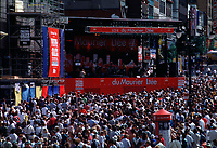 File Photo, Montreal, Quebec, Canada<br /> <br /> crowd scene at the Montreal jazz Festival<br /> <br /> <br /> <br /> Mandatory Credit: Photo by Pierre Roussel- Images Distribution. (©) Copyright 1999<br />  by Pierre Roussel <br /> <br /> NOTE : <br /> 35 mm neg, scanned on Nikon LS-1000, saved as  in Adobe 1998 RGB coor space