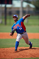 Samuel Rosario (14) during the Dominican Prospect League Elite Florida Event at Pompano Beach Baseball Park on October 14, 2019 in Pompano beach, Florida.  Samuel Rosario (14).  (Mike Janes/Four Seam Images)