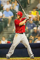 Bryce Harper #34 of the Harrisburg Senators at bat against the Richmond Flying Squirrels in game two of a double-header at The Diamond on July 22, 2011 in Richmond, Virginia.  The Senators defeated the Flying Squirrels 1-0.   (Brian Westerholt / Four Seam Images)
