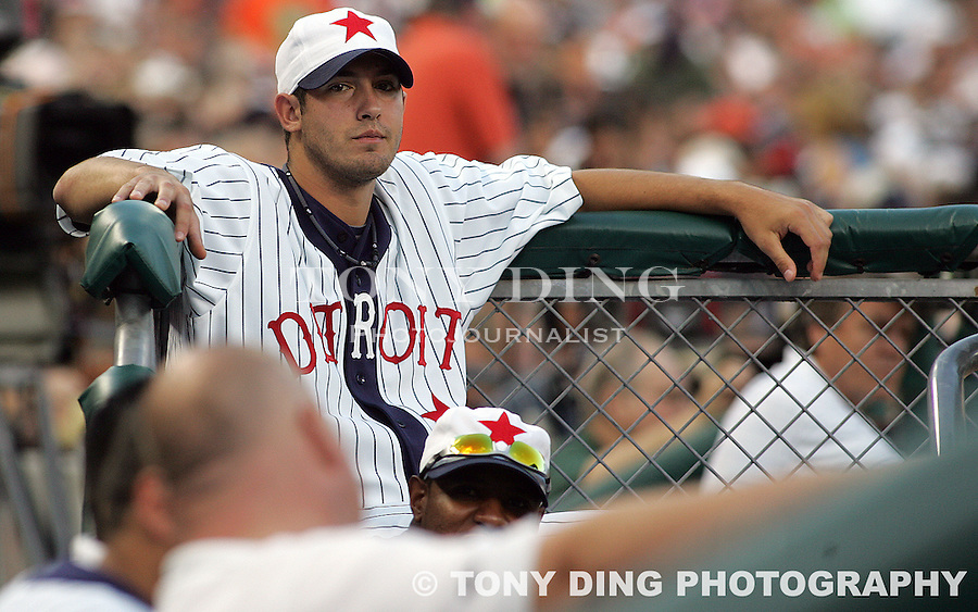 11 July 2009: NAMES during the Cleveland Indians at Detroit Tigers Major League Baseball game at Comerica Park, in Detroit, Michigan. The two teams played in retro uniforms honoring historic Negro League teams Detroit Stars and Cleveland Buckeyes.