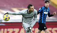Football, Serie A: AS Roma -  FC Internazionale Milano, Olympic stadium, Rome, January 10, 2021. <br /> Inter's goalkeeper and captain Samir Handanovic (l) in action during the Italian Serie A football match between Roma and Inter at Rome's Olympic stadium, on January 10, 2021.  <br /> UPDATE IMAGES PRESS/Isabella Bonotto
