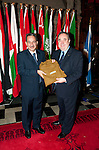 First Minister Alex Salmond, First Minister of Scotland presents His Excellency  Mr.Abdulaziz Abdullah Al-Hinai (Embassy of the Sultanate of Oman) with a gift following the dinner and reception held at Edinburgh Castle this evening..Pic Kenny Smith, Kenny Smith Photography.6 Bluebell Grove, Kelty, Fife, KY4 0GX .Tel 07809 450119,