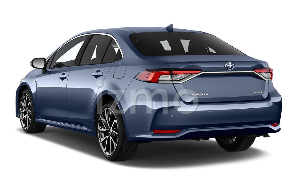 Car pictures of rear three quarter view of a 2019 Toyota Corolla  Premium 4 Door Sedan angular rear