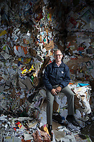 Sanitary Service Company Recycling Manager Rodd Pemble, photographed at Northwest Recycling in Bellingham, Wash. Bellingham is one of only a handful of cities in Washington state without single-stream recycling, so residents must sort their recyclable items into three separate bins. Photo by Daniel Berman