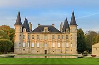 France, Gironde, Medoc, Pauillac, Chateau Pichon Longueville // France, Gironde (33), Médoc, Pauillac, château Pichon-Longueville