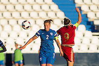 Finland's Maija Saari and Spain's Veronica Boquete during the match of  European Women's Championship 2017 at Leganes, between Spain and Finland. September 20, 2016. (ALTERPHOTOS/Rodrigo Jimenez) NORTEPHOTO